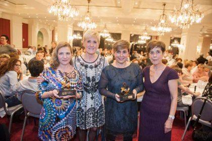 FOTO: De izda.a dcha. Antonia López. Pilar Lecuona, Pilar Tazón y María Jesús Zapirain.
